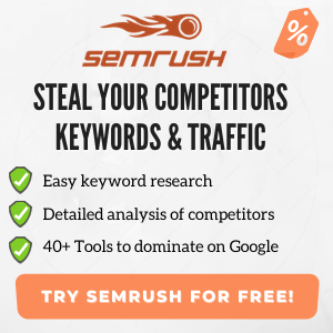 Banner SEMrush- best seo tool - keyword research for beginners - semrush tutorial