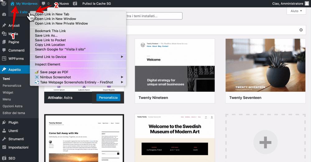 Cómo instalar el tema de Astra en Wordpress - abrir un tutorial del sitio web de Wordpress (1) (1)