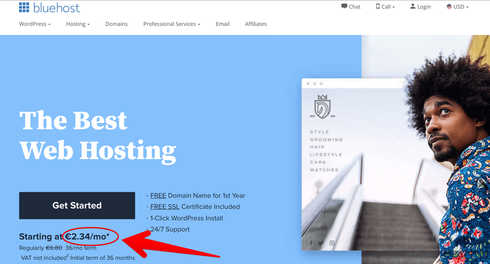 Miglior Web Hosting Wordpress 2021 Web hosting con dominio gratuito WordPress Recensione Bluehost Classifica Migliori hosting economici 2 1