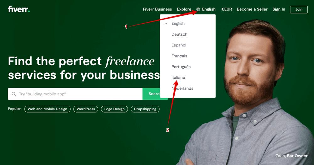 Wie man sich auf fiverr italy anmeldet - wie man als Freelancer auf fiverr Geld verdient