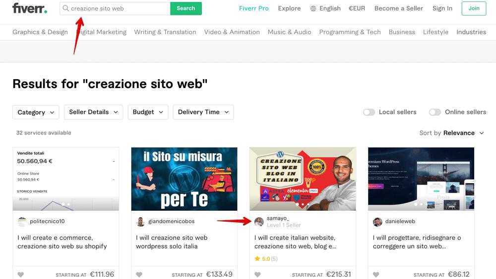 Cinco opiniones y críticas de Italia - servicio de creación de sitios web independientes