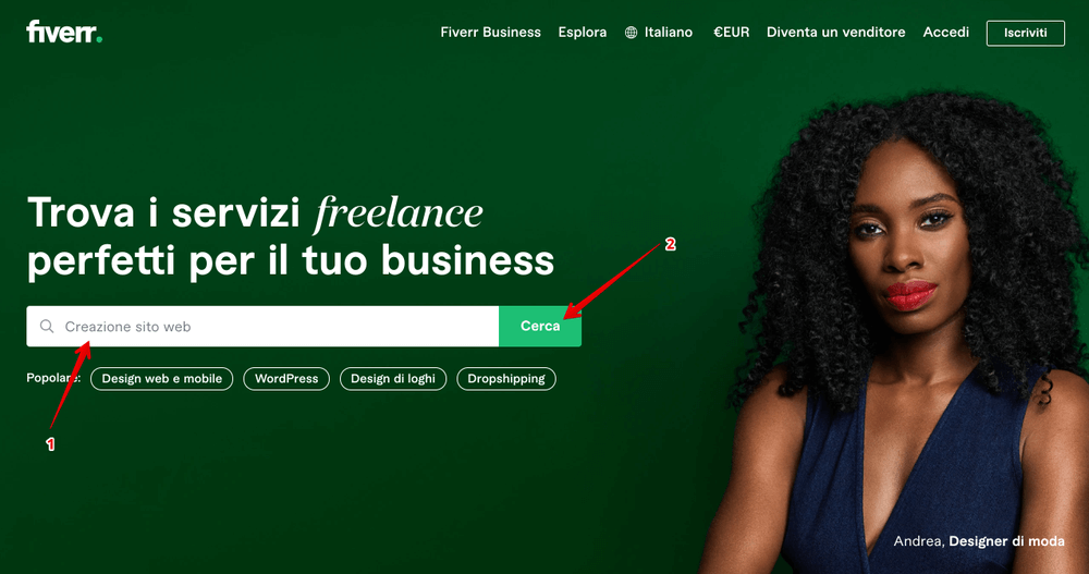 Fiverr - Marketplace of freelance services for companies - fiverr italia opinions and review - how to use fiverr - how fiverr works