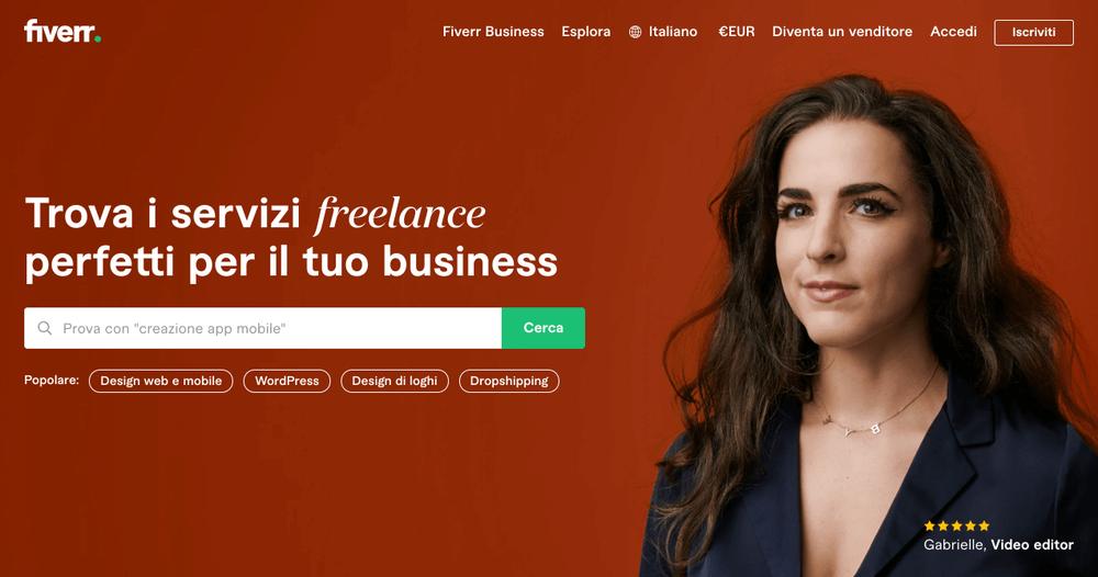 Fiverr - Marktplatz für freiberufliche Dienstleistungen für Unternehmen - fiverr italia Meinungen und Bewertungen - wie man fiverr benutzt - wie fiverr funktioniert