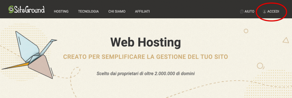 Come installare WordPress su siteground - recensione siteground opinioni (1)