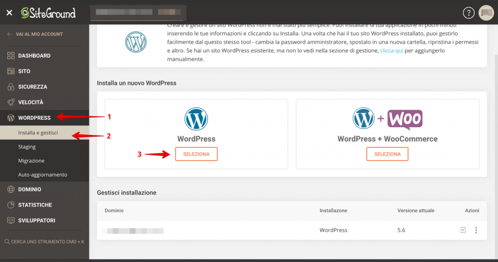 Come installare WordPress su siteground - recensione siteground opinioni 3 (1)