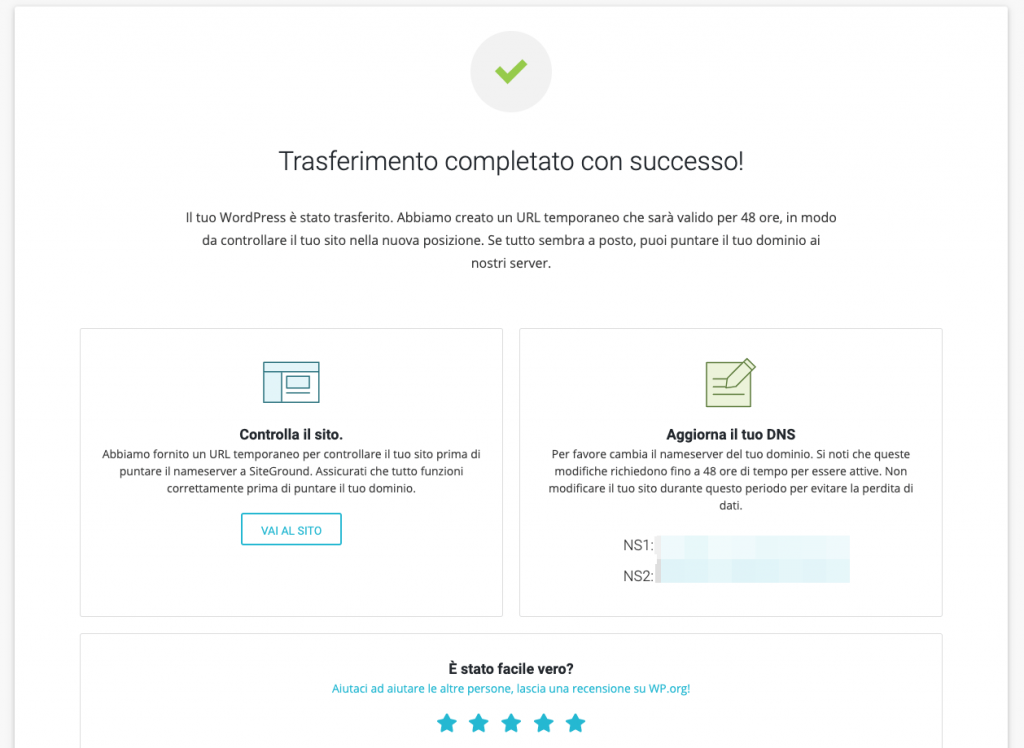 Come trasferire un sito da un hosting a siteground - siteground migrator tutorial (1)