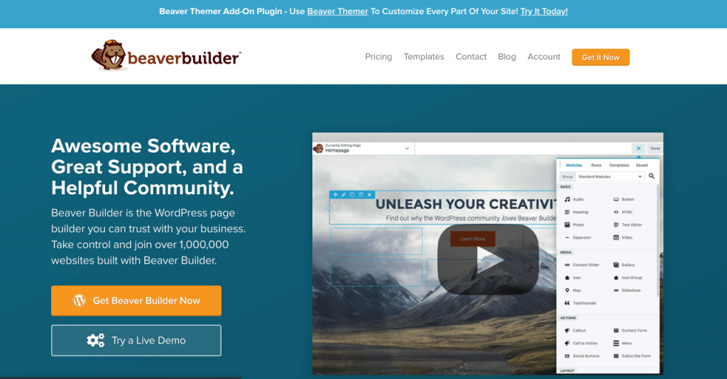 Come usare beaver builder per creare una landing page con WordPress - WordPress Page Builder Plugin - Beaver Builder