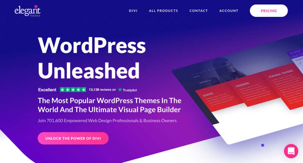 Come usare divi builder per creare una landing page con WordPress - Divi, The Most Popular WordPress Themes In The World