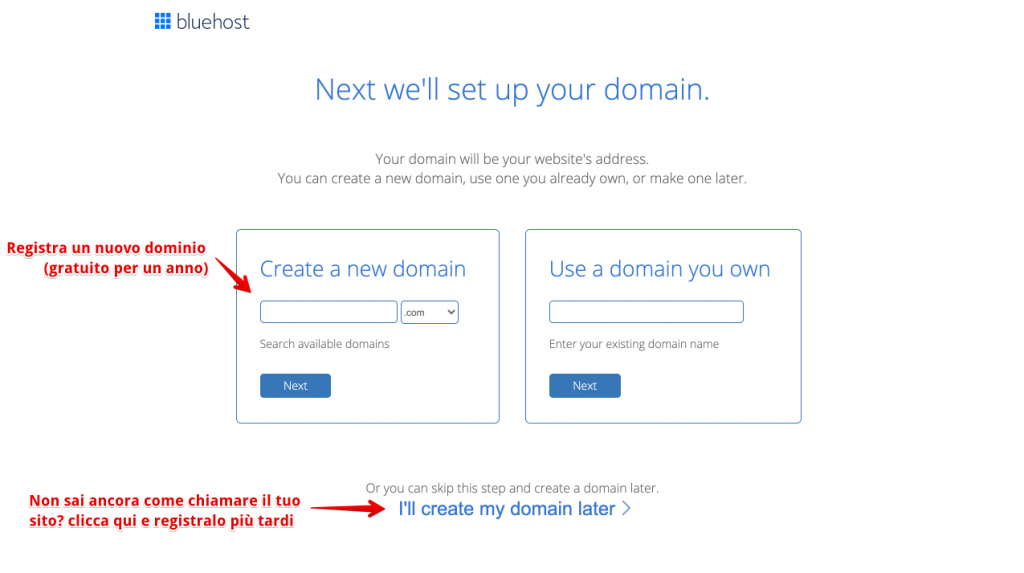 Schritt 3 - wie man ein erfolgreiches Blog erstellt - Anleitung für Anfänger zum Starten eines Blogs von Grund auf Tutorial Kauf einer Domain und Hosting mit bluehost