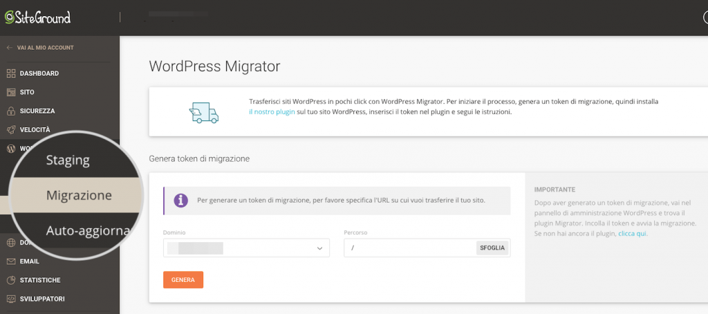 migrazione con siteground recensioni- siteground migrator tutorial (1)