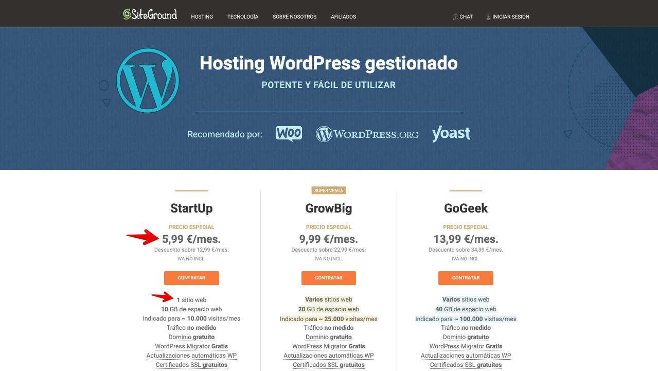 SiteGround - El mejor alojamiento para crear un sitio web - cómo ganar dinero en línea con un blog (1) (1)