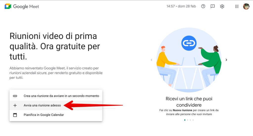 come funziona Google Meet tutorial (2)