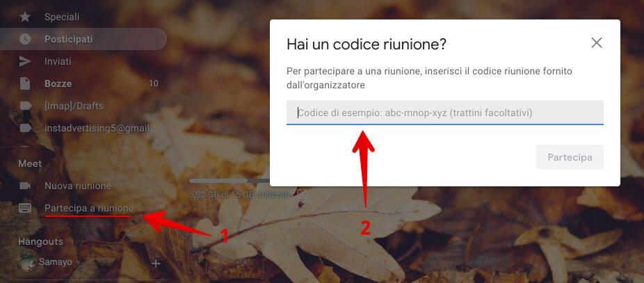 come partecipare a un google meet direttamente da gmail (1)