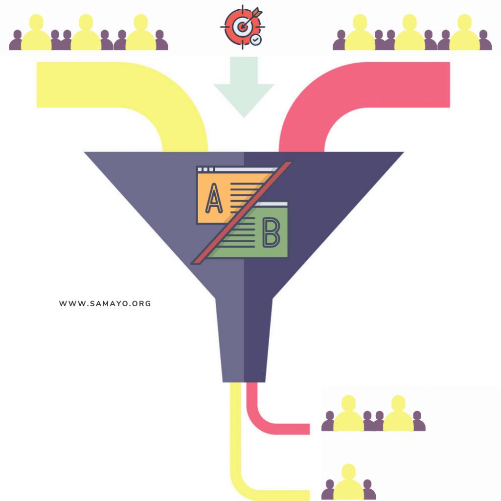 Colorful Funnel Diagram - A B Test di un sales funnel - che cosa sono a che cosa servono i funnel di vendita (2) (1)